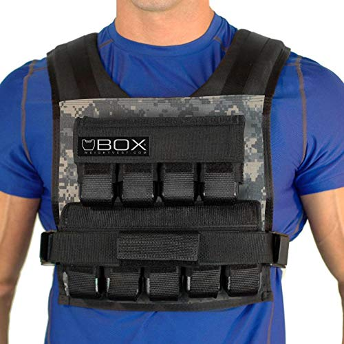 Designed for gym, crossfit, strength building and weight loss. Fully padded design, is great for running and active workouts Wipe down lining for easy cleaning Removable 2.5lb cast iron weights provide perfect balence front, and back Built Tough: Top...
