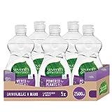 Seventh Generation Lavender Flower & Mint - Lavavajillas a Mano, 0% fragancias sintticas y colorantes, 5 Recipientes de 500 ml, Total: 2500 ml