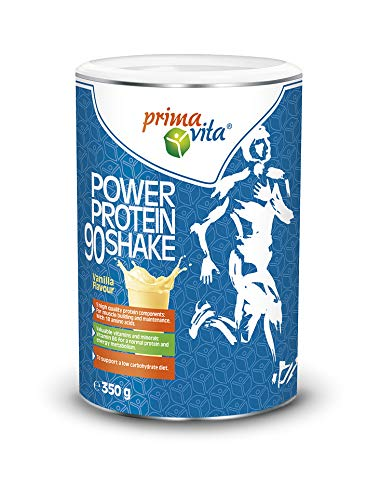 Primavita - Batido Proteína 90 con 5 fuentes complementarias de proteína, sabor a vainilla, 350g (11-12 raciones)