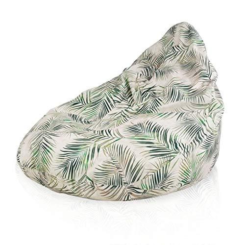 Italpouf Sitzsack Riesensitzsack XXL KinzlerSitzsack Drop Botanic Outdoor 120 x 100cm 450l Füllung Beanbag
