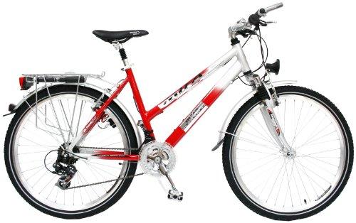 MIFA Damen All Terrain Bike 21 Gang, rot/Silber, 46 cm, 26 Zoll