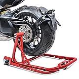 Incluso l'adattatore specifico al modello (perno sostenuto da cuscinetti), la ruota posteriore può essere girata per facilitare la manutenzione e la pulizia