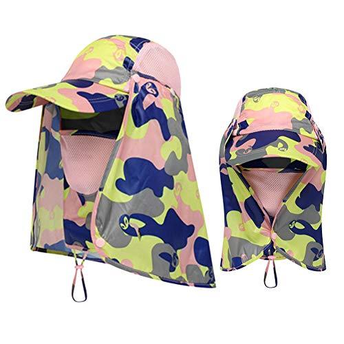 CJGCJG Pesca Protección Solar Gorra Sombrero Deportivo Senderismo Visera Sombrero Protección Cara Cuello Cubierta Pesca Protección Solar Gorra