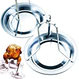 MotBach 2 Packs Stainless Steel Chicken Roaster Rack, Detachable Folding Nonstick Vertical Kitchen Barbecue Chicken Stand, Meat Poultry Turkey Roaster Holder for Oven, Kitchen and Outdoor BBQ