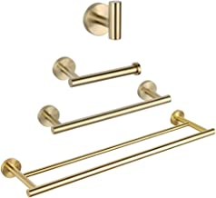 Bathroom Hardware Set 4 Pieces Brushed PVD Zirconium Gold SUS 304 Stainless Steel Bathroom Hardware Accessories Sets Wall ...