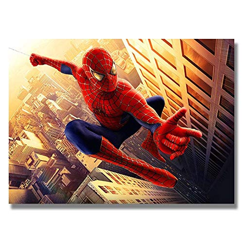 Box Prints Spiderman Movie Film Retro Art Poster Enmarcado Cuadro impresión de la Pared