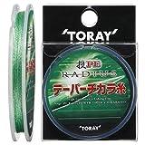 東レ(TORAY) PEライン 投 PE ラディウス テーパーチカラ糸 13m 1.5-6号 マットグリーン