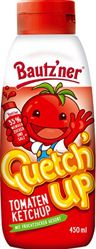 BAUTZ'NER Quetch'Up Tomaten Ketchup, 8er Pack (8 x 450 ml)