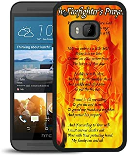 HTC ONE M9 Case,Firefighter Prayer Black Shell Case for HTC ONE M9,Unique Cover