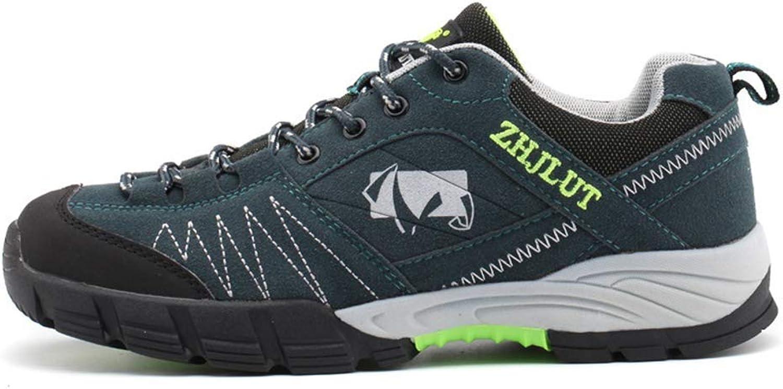 ZHRUI Men Hiking shoes Outdoor Climbing Mountain Hunting Trekking Sneakers (color   Light bluee, Size   9.5 UK)