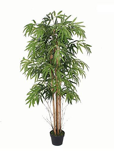 Pianta artificiale in bambù in vaso – 150 cm – Pianta decorativa per interni