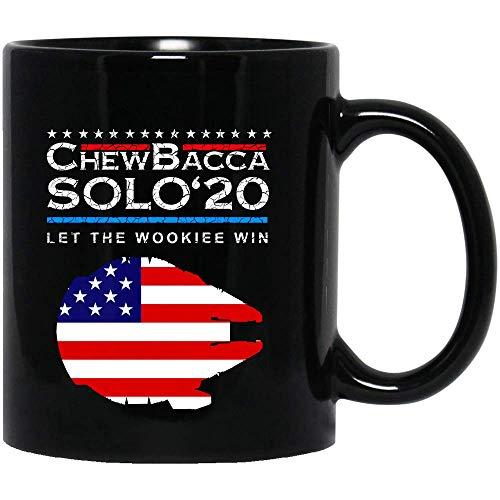 N\A #Chewbacca Solo '20# Star Movie War Let The Wookiee Win 2020 Bandera de América Regalo Camiseta para Mujer Camiseta Unisex Sudadera con Capucha Regalo Taza Taza de cerámica 11oz