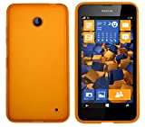 mumbi Coque de protection pour Nokia Lumia 630/635 TPU gel silicone transparent orange