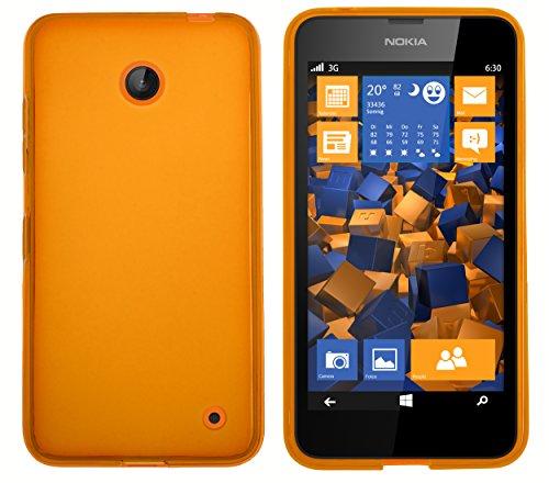 mumbi Hülle kompatibel mit Nokia Lumia 630 / 635 Handy Hülle Handyhülle, transparent orange