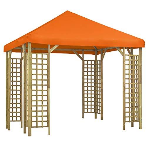 Tidyard Gazebo Fully Waterproof Heavy Duty Canopy Instant Shelter 3x3 m Orange