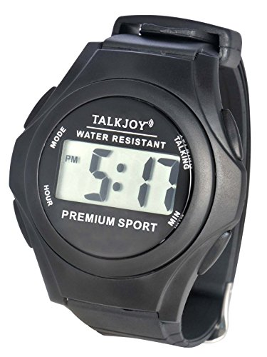 Wasserfeste Sprechende Armbanduhr Senioren Blinde Sprachfunktion Uhrzeitansage Sprechender Wecker Spritzwassergeschützt mit Zeitansage