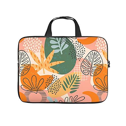 Facbalaign Funda para portátil de arte con plantas, resistente al agua, suave, resistente al desgaste, con asa.