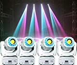 Upkinds Moving Head Spot Light 85W Led Stage Lighting RGBW Kaleidoscope With 15 Gobos Patterns Wash Lights By Sound Activated DMX 512 Control 9/11Ch For Wedding Concert Dj Disco Party Show (4 pack)