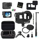D&F Kit de Accesorios Estuche Protector para GoPro Hero 7 Black (Solo Negro)/HD (2018)/Hero 6/Hero 5 con Estuche, autofoto, Mini trípode y más