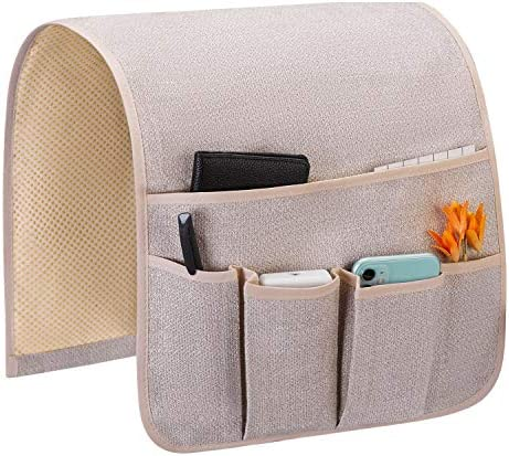 Teniux Remote Control Holder Non Slip Couch Sofa Chair Armrest Organizer with 5 Pockets Armchair product image