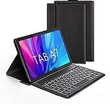 """Jelly Comb Custodia con Tastiera Italiana per Samsung Tab A7 10.4 """" 2020, Tastiera Bluetooth con 7 Colori Retroilluminati per Samsung Galaxy Tab A7 (SM-T505/T500/T507), Nero"""