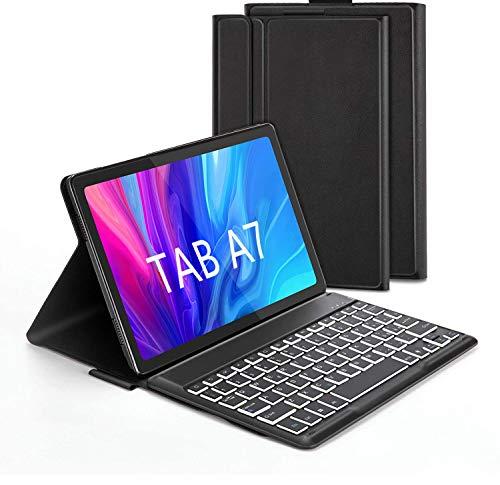 """Jelly Comb Custodia con Tastiera Italiana per Samsung Tab A7 10.4 """" 2020, Tastiera Bluetooth con 7 Colori Retroilluminati per Samsung Galaxy Tab A7 (SM-T505 T500 T507), Nero"""