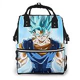 Mochila para pañales – Dragon Ball Super multifunción impermeable mochila de viaje pañales cambiantes bolsas