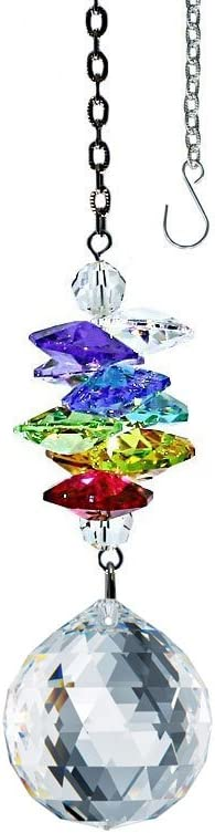 Crystal Suncatcher 3 inch Ornament Clear Faceted Ball Bargain sale Limited time for free shipping Pr