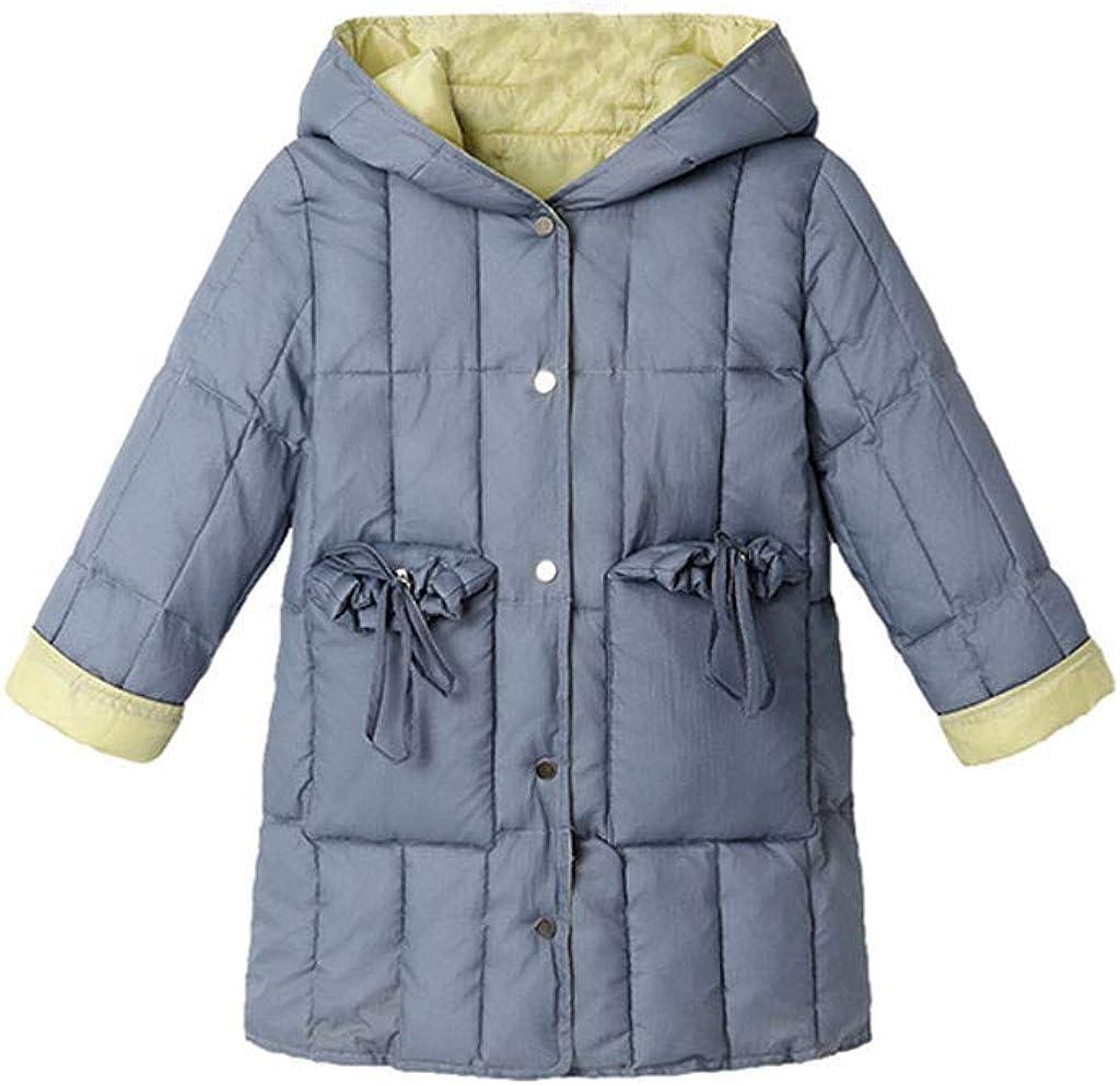 TOTAMALA Winter Down Jacket Kids OFFer Solid Warm Gi Button Max 48% OFF Children's