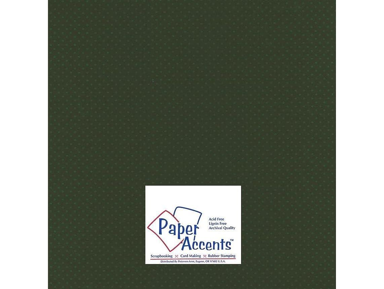 Accent Design Paper Accents Cdstk Mini Dots 12x12 80# Boxwood