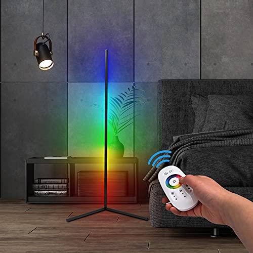 TTLIFE Lámpara de pie 56 pulgadas Luz de piso de esquina moderna que cambia la luz LED regulable de luz RGB que cambia de...