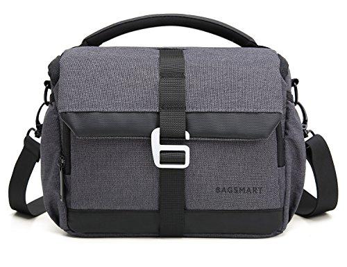 BAGSMART DSLR/SLR Camera Shoulder Bag Compact Gadget Bag with Thicken Top Handle & Adjustable Shoulder Strap