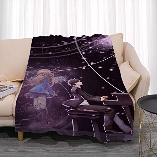 GUANGZHENG Il vostro Modello di Lie Nell'Aprile Serie Arima Kousei/Anime Coperta Personaggio/Facile da trasportare e Clean/Single-Sided Stampa Digitale/Adatto for Adulti e Bambini, Otaku