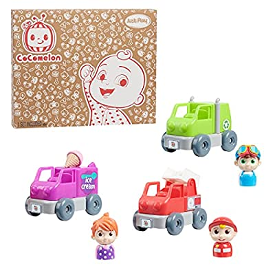 Just Play Cocomelon Build A Vehicle Playset, Includes 3 Vehicle Sets, Styles May Vary from Just Play