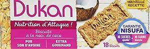 Dukan Biscuits de Son d'Avoine Saveur Coco 225 g