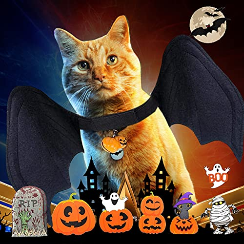 Halloween Pet Costume, Dog Bat Wings for Pet Theme Party,Suitable for Medium-Sized Dogs or Cats