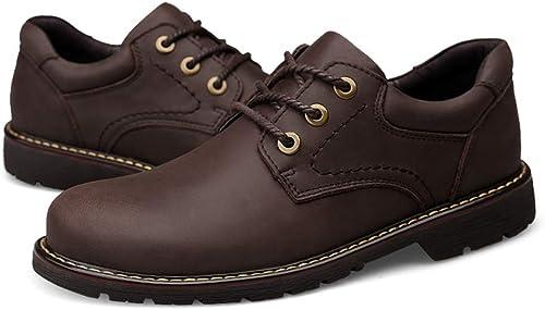 Easy Go Shopping Stiefel de Tobillo para Hombre Stiefel Martin, Sencillas, clásicas, Sencillas, Bajas, Exteriores, Exteriores (Farbe   braun, tamaño   38 EU)