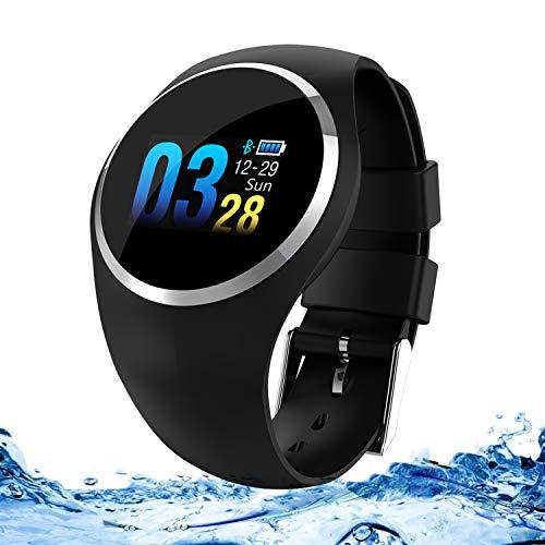 Zeerkeer Smartwatch,Orologio da Polso Frequenza Cardiaca/Pressione Sanguigna/Sportivo/Monitor per Dormire Impermeabile IP67 Inseguitori Fitness Notifica di Facebook/Twitter/Whatsapp(Nero)