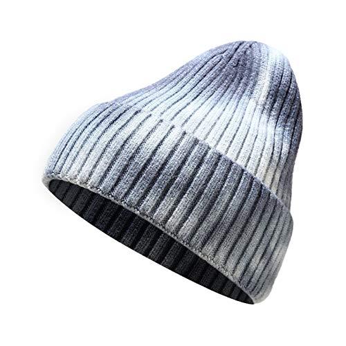 ETXP Bonito Sombrero Nuevo otoo e Invierno con Sombreros Sombreros de Punto de Hilo Tintado Calientes Gruesos Hombres y Mujeres Sombreros Sombreros Mujeres Sombreros Apto para Exterior