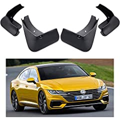 4Pcs Complete Set Splash Guard Kit & All Required Hardwares High Quality Black ABS Plastic, Which is wear-resistant, heat-resistant, low-temperature resistant, -40 to 100°C Easy to Install: Only spend 20 minutes, Provides protection for the car body,...