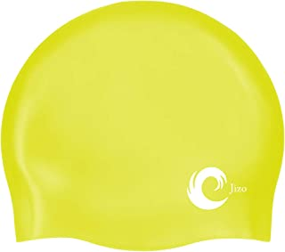 3a4e8e94 N.U.W.A Solid Silicone Swim Cap, Comfortable Fit Swim Caps Swimming Cap for Men  Women Adults