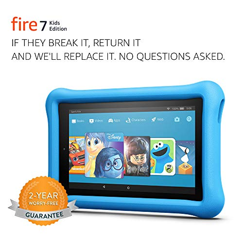 Fire 7 Kids Edition Tablet, 7' Display, 16 GB, Blue Kid-Proof Case - (Previous Generation - 7th)