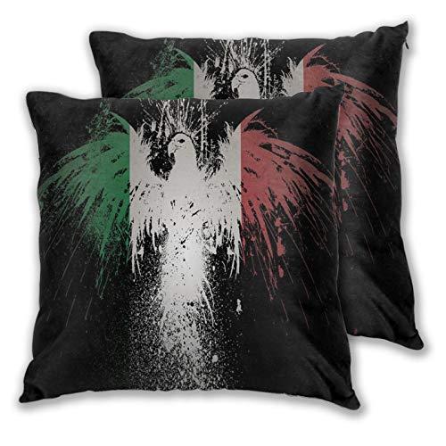 WINCAN Juego de 2 Decorativo Funda de Cojín, La Bandera de Guatemala Funda de Almohada Cuadrado para Sofá Cama Decoración para Hogar,60x60cm