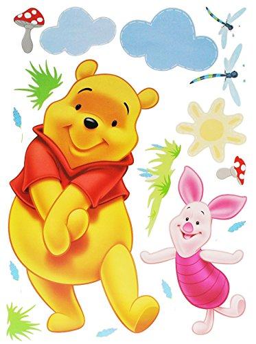 alles-meine.de GmbH 17 TLG. Set XXXL - Wandtattoo / Fensterbild / Sticker groß - Winnie The Pooh Bär mit Ferkel - Wandsticker selbstklebend Puuh Kinderzimmer