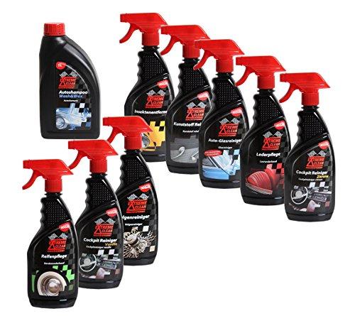 Autoreiniger Autopflege Komplett-Set Felgen, Reifen , Leder,Glas, Polster,Insekten, Cockpit und Shampoo mit Wachs