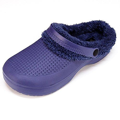 Magnus Herren Clogs Badeschuhe (126B) Badelatschen Pantoffel Pantoletten Schuhe Neu Größe 42, Farbe Navy