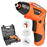 BestFire Cordless Screwdriver Set, 4.2V Electric Screwdriver with 45Pcs Screw Bits Set, Built-in 1600mAh Li-ion, LED Light, Battery Indicator and USB Rechargeable Easy for Small Home Projects