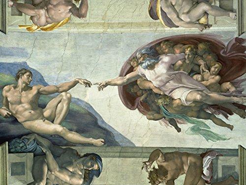 Artland Alte Meister Premium Wandbild Michelangelo Bilder Poster 60 x 80 cm Sixtinische Kapelle: Die...