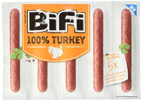 BiFi Turkey – herzhafter Truthahn-Salami Fleischsnack - 20er Multipack (20 x 5 x 20 g)