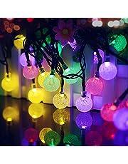 Solar String Lights, 60 LED 11M/36FT Outdoor Tuin Fairy Lights Zonne energie Waterdicht 8 Modi Crystal Ball Decoratieve Licht voor Patio Yard Bruiloft Party Kerstboom Indoor Outdoor (Multi-Color)